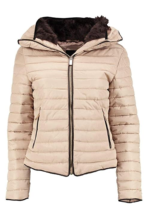 Amazon.com: Ladies Quilted Bubble Puffer acolchado Full ...