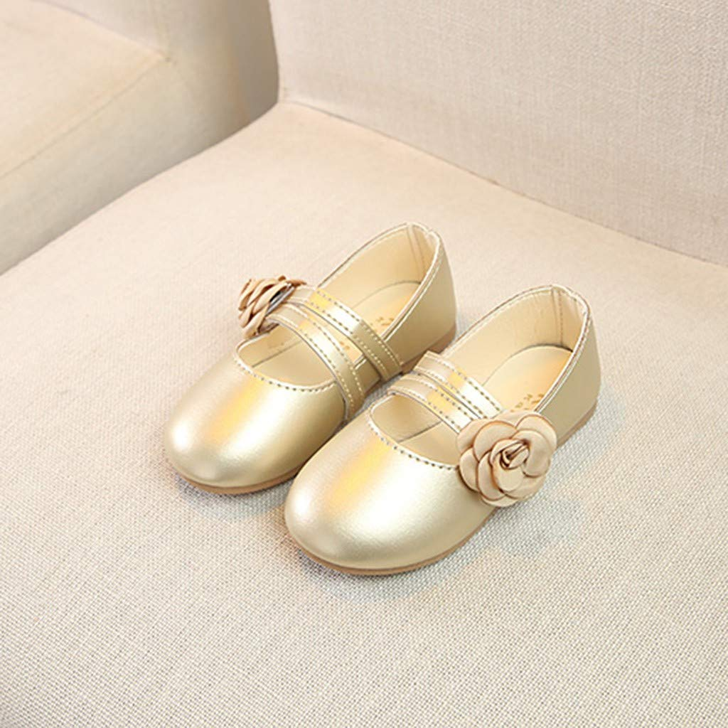Kstare Girl Casual Toddler Little Kid Leather Flat Dress School Wedding Party Ballet Flats Shoes