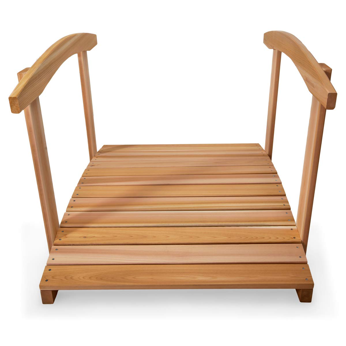 All Things Cedar FB48-R Garden Foot Bridge with Hand Rails, 4' by All Things Cedar (Image #2)