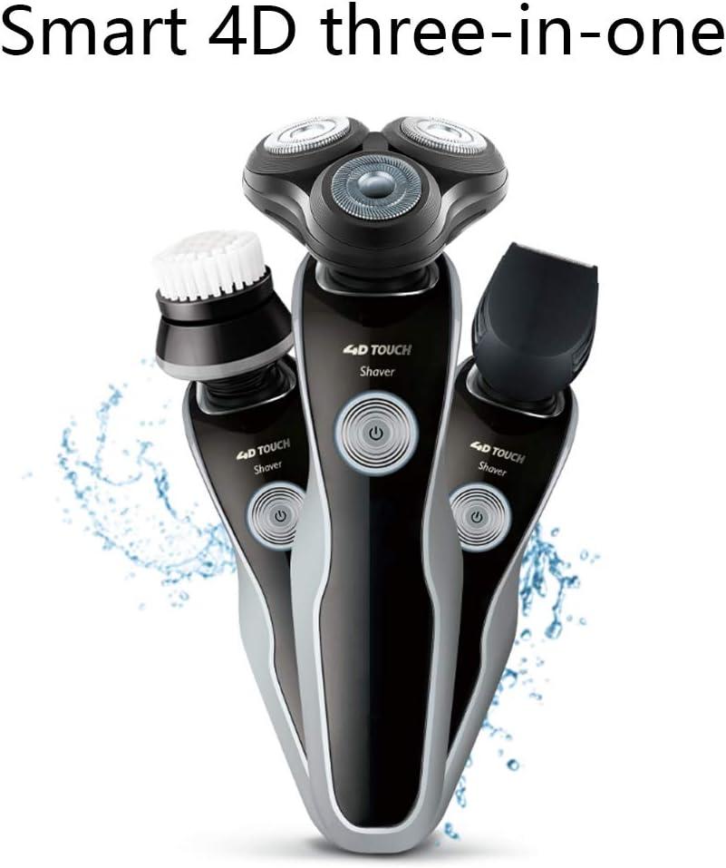 Afeitadora eléctrica 4D para afeitado en seco y en húmedo ...