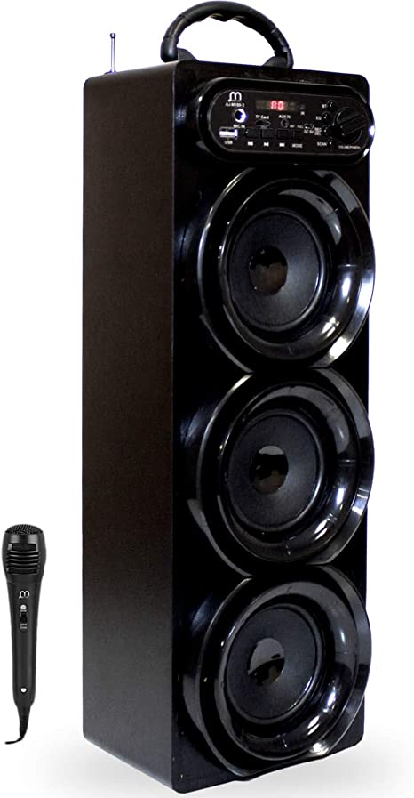 Altavoz Karaoke con Micr/ófono Bluetooth Torre Sonido USB Radio//FM//MP3 HiFi Inal/ámbrico Recargable Musica Modo Pop//Rock//Classic//Jazz
