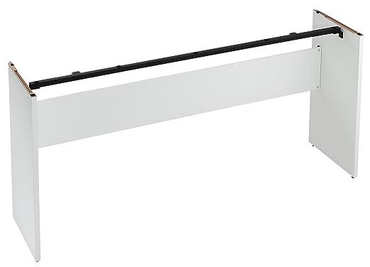 korg b1 wh piano numerique compatible avec support et unite 3 pedales, 88 touches lestees, ideal pour les cours
