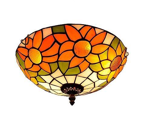 Lámpara de techo de estilo retro de 12 pulgadas Tiffany ...
