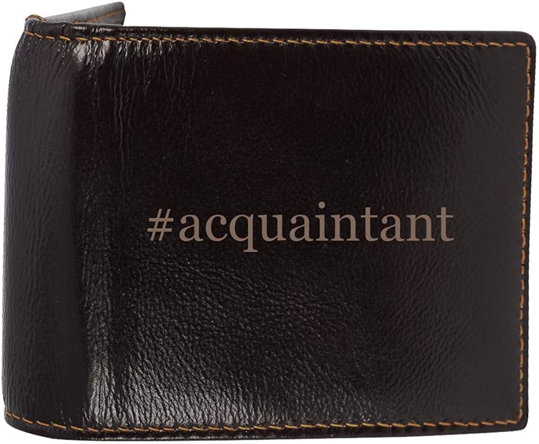 #acquaintant - Genuine Engraved Hashtag Soft Cowhide Bifold Leather Wallet 6125pFITffL