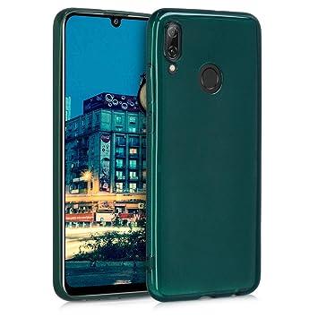 kwmobile Funda para Huawei P Smart (2019) - Carcasa para móvil en TPU Silicona - Protector Trasero en petróleo Brillante