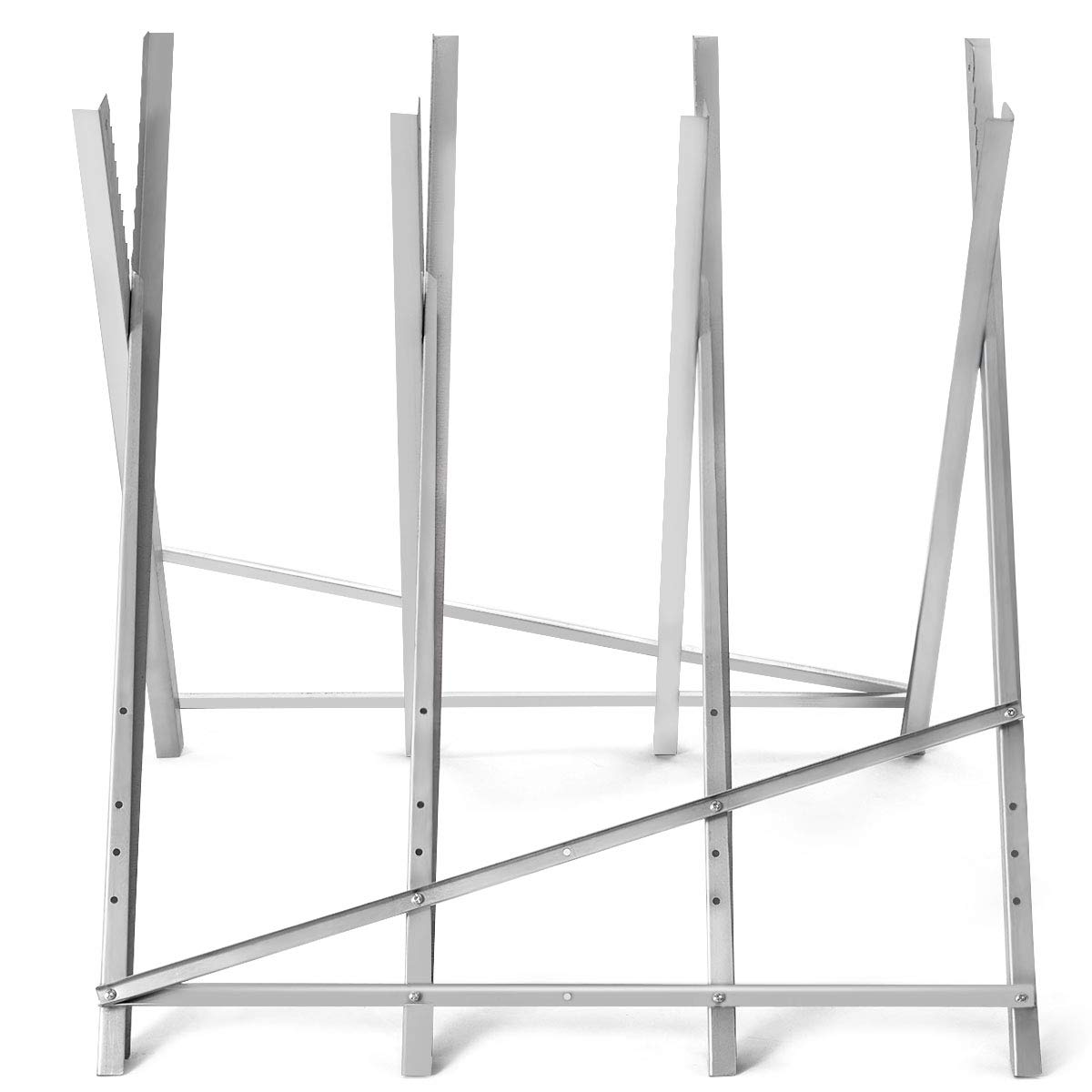 Goplus Portable Sawhorse Heavy Duty Adjustable Steel Work Support Foldable Sawhorse Stand 220 lbs Weight Capacity by Goplus (Image #5)