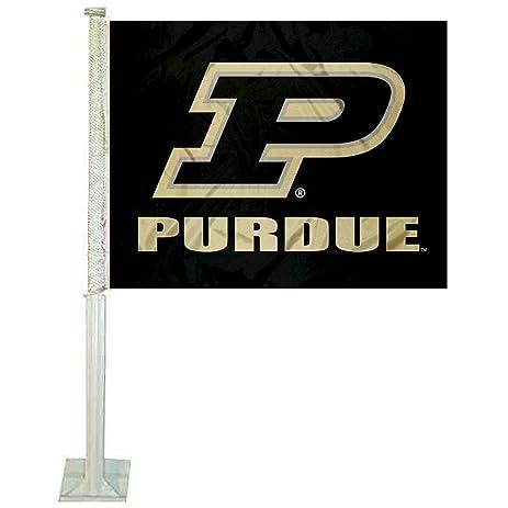 Amazon.com : Purdue Boilermakers Slant P Car Flag : Sports & Outdoors
