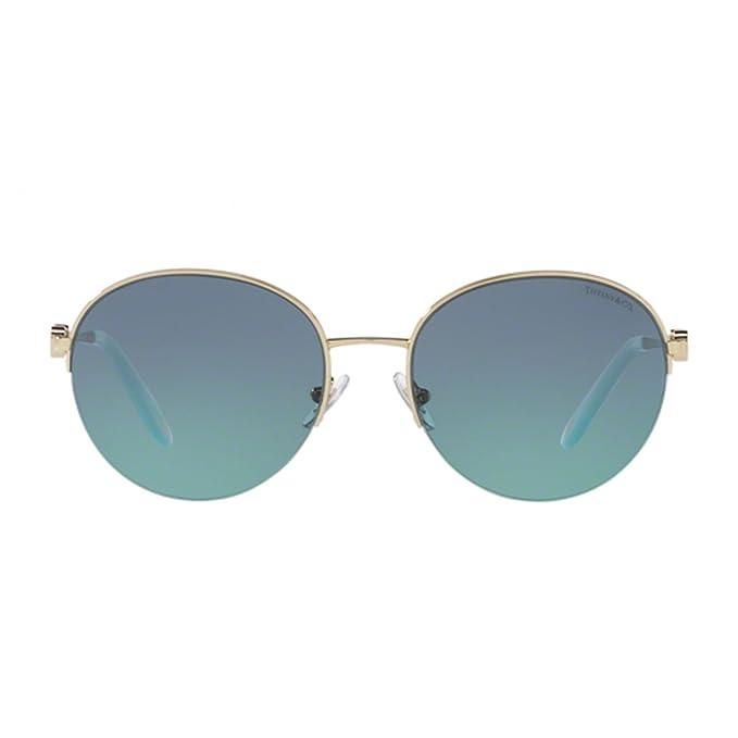 Tiffany Damen Sonnenbrille 0TY3053 60219S, Gold (Pale Gold/Azuregradientbluee), 56