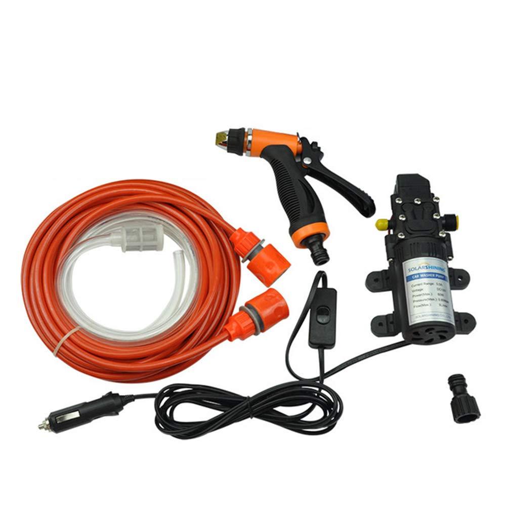 ONEVER Auto pompa ad alta pressione 130PSI lavaggio Pompa autoadescante Kit elettrico DC 12V 80W Car pulizia Rondella