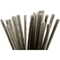 Pipe Cleaners, thickness 9 mm, L: 30 cm, grey, 25pcs