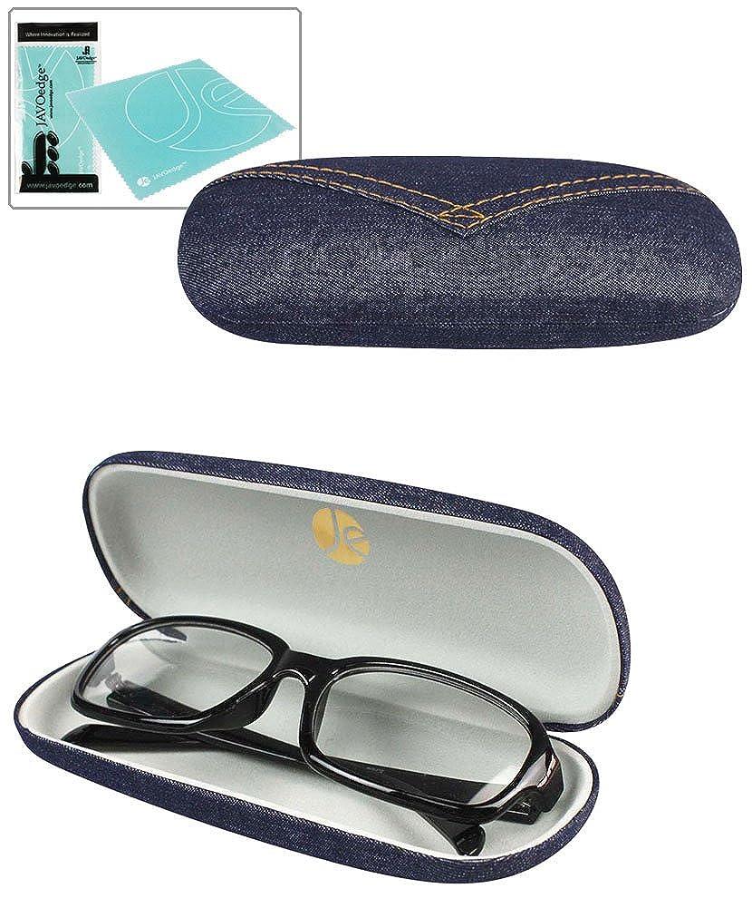 JAVOedge Classic Denim Glass Case and Bonus Mircofiber Cleaning Cloth