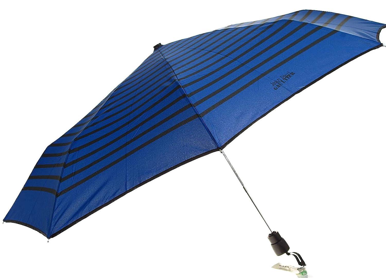 Jean Paul Gaultier - Rayas azul rey paraguas plegable: Amazon.es: Equipaje