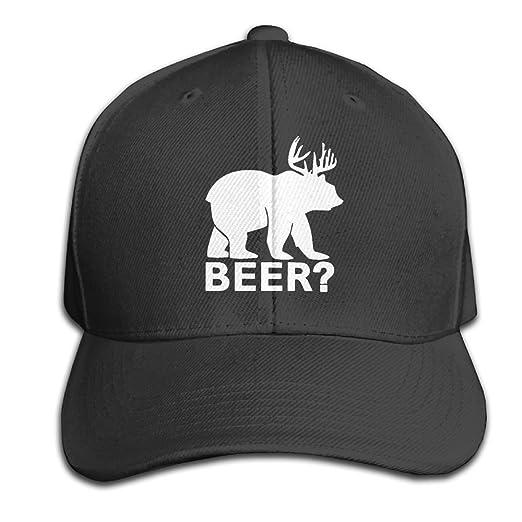 321a3afa Amazon.com: PUREYS-I Adult Funny Beer Bear Deer Sayings Trucker ...