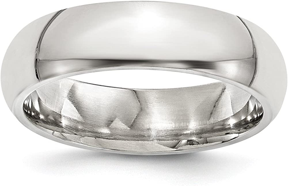 Wedding Bands Classic Bands Domed Bands Edward Mirell Titanium 6mm Polished Band Size 8