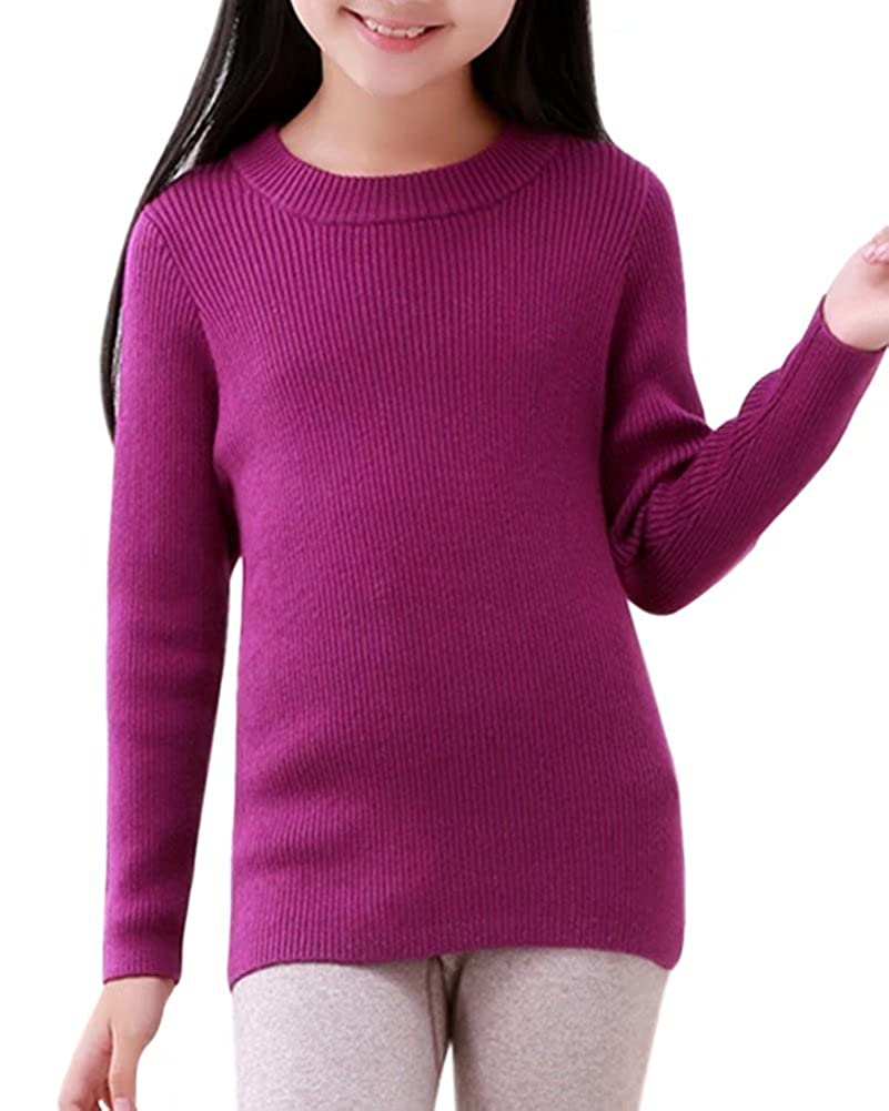 DAIMIDY CASHMERE Unisex Kids Solid Colors Cashmere Sweater 2-11 Years