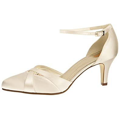 Else by Rainbow Club Brautschuhe Coconut Ice - Pumps, Riemchen, Ivory    Creme, Satin - Tanzschuhe, Hochzeitsschuhe, Pfennigabsatz  Amazon.de  Schuhe    ... f5f83a8443