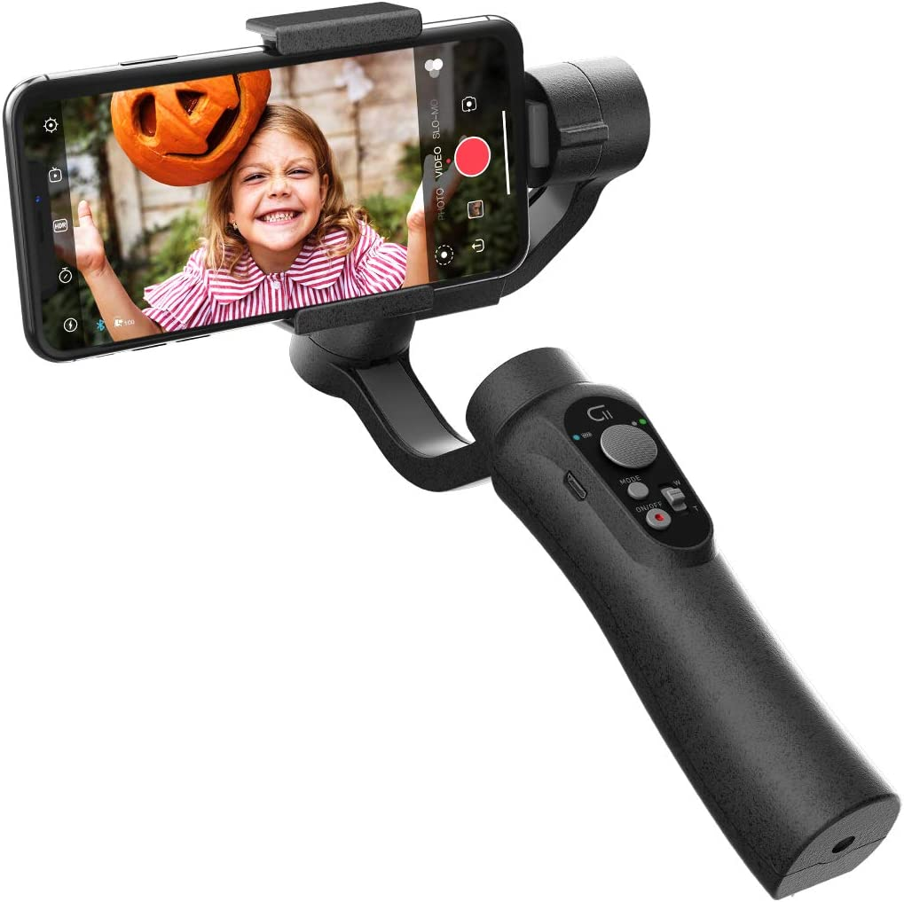 CINEPEER C11 Smartphone Gimbal, 3-Axis Handheld Gimbal Stabilizer for iPhone X/Xs, Samsung Android, ZY Play App Support, Zoom Control, Smooth Video Gimbal for iPhone/Android, Face/Object Tracking