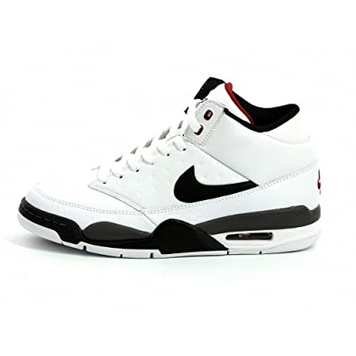 bb8c7066d16 Nike Air Flight Classic (White   Black-Dark Grey-Varsity Red uk Size 9   Amazon.co.uk  Shoes   Bags