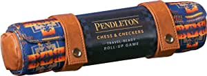 Chronicle Books Pendleton Chess & Checkers Set: Travel-Ready Roll-Up Game (Camping Games, Gift for Outdoor Enthusiasts), 1 EA