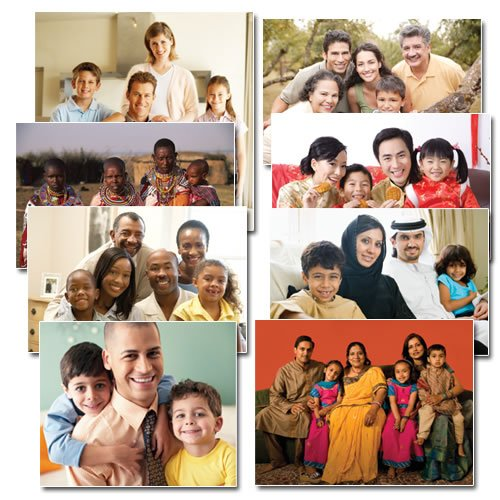 Multicultural Poster - Kaplan Families of the World Poster Set (set of 8)