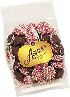 product image for Asher's Chocolates, Sprinkled and Chocolate Covered Nonpareils, Small Batches of Kosher Chocolate, Family Owned Since 1892 (4 ounce, Dark Chocolate)