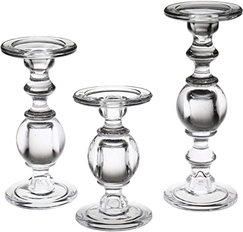 Signals Glass Pillar Candle Holder