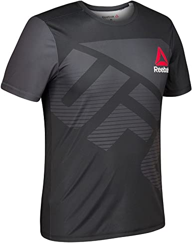 hipocresía Sureste Accesible  Amazon.com : adidas Reebok UFC Crossfit Men's Black/Silver Fight Kit  Performance Jersey (S) : Clothing