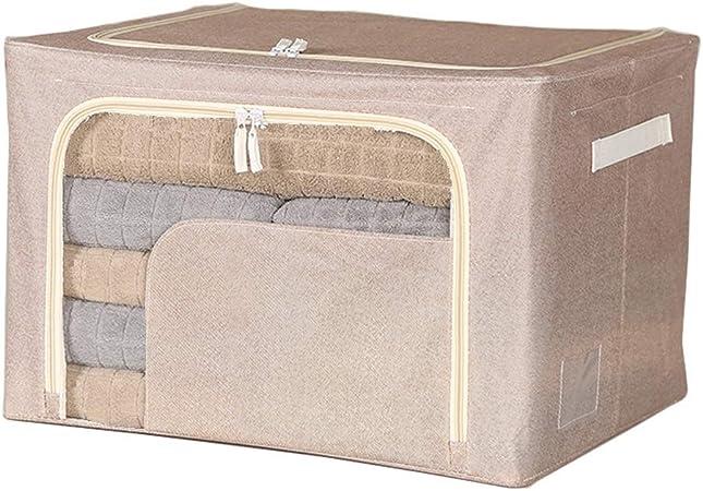 YULAN Caja de Almacenamiento de Ropa Armario de Tela Textil de Oxford Edredón de algodón Caja de consolidación de Almacenamiento Bolsa Grande de mudanza (Color : Beige): Amazon.es: Hogar