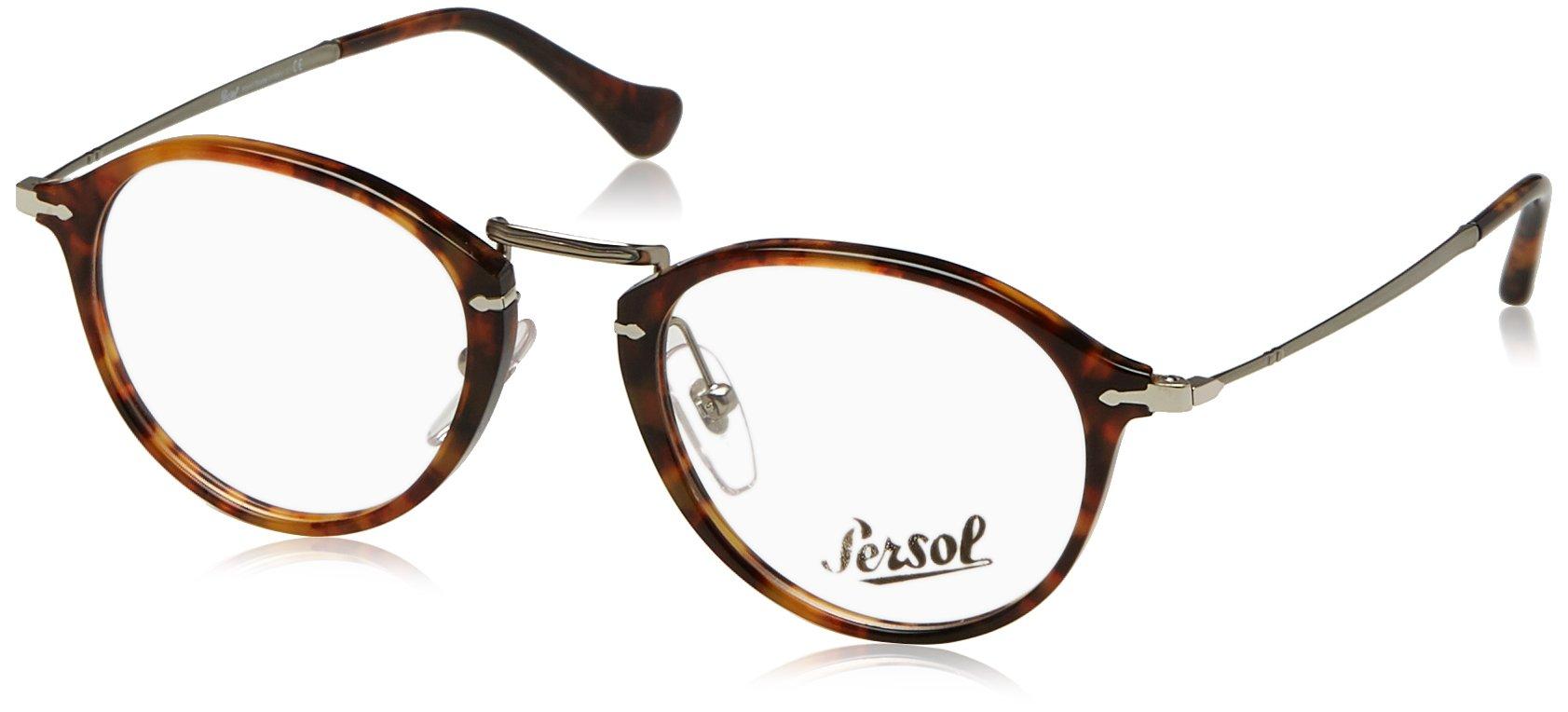 Persol PO3046V Eyeglass Frames 108-49 - Light Havana PO3046V-108-49