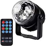 LED Party Light,IEKA 7 Color Sound Activated Disco Ball Lights Strobe Club lights Effect Magic Mini Led Stage Lights For Christmas Home KTV Xmas Wedding Show Pub