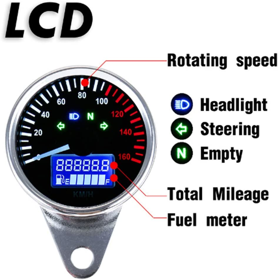 Tachimetro DIgitale Display LCD Per Moto Cafe Racer