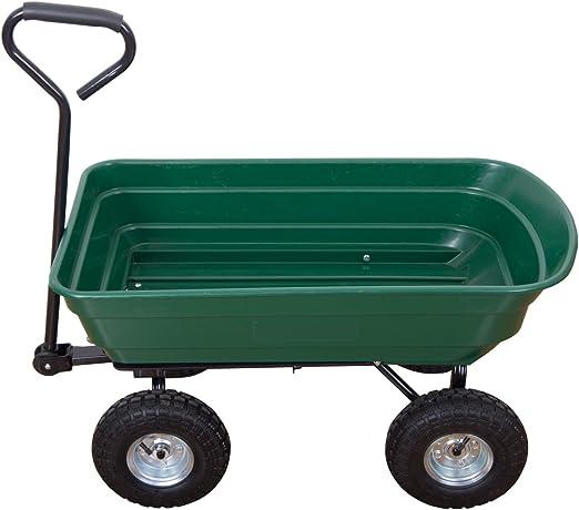 2 en 1 Carrito de jardín de mano y remolque volquete basculante carga max. 200 kg verde 12: Amazon.es: Jardín