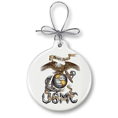Amazon.com: Marine Christmas Ornaments – USMC Marine Corps Eagle ...