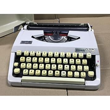 Máquina de escribir Vintage Inglés antiguo/Vintage francesa años 80 Portátil para uso Normal