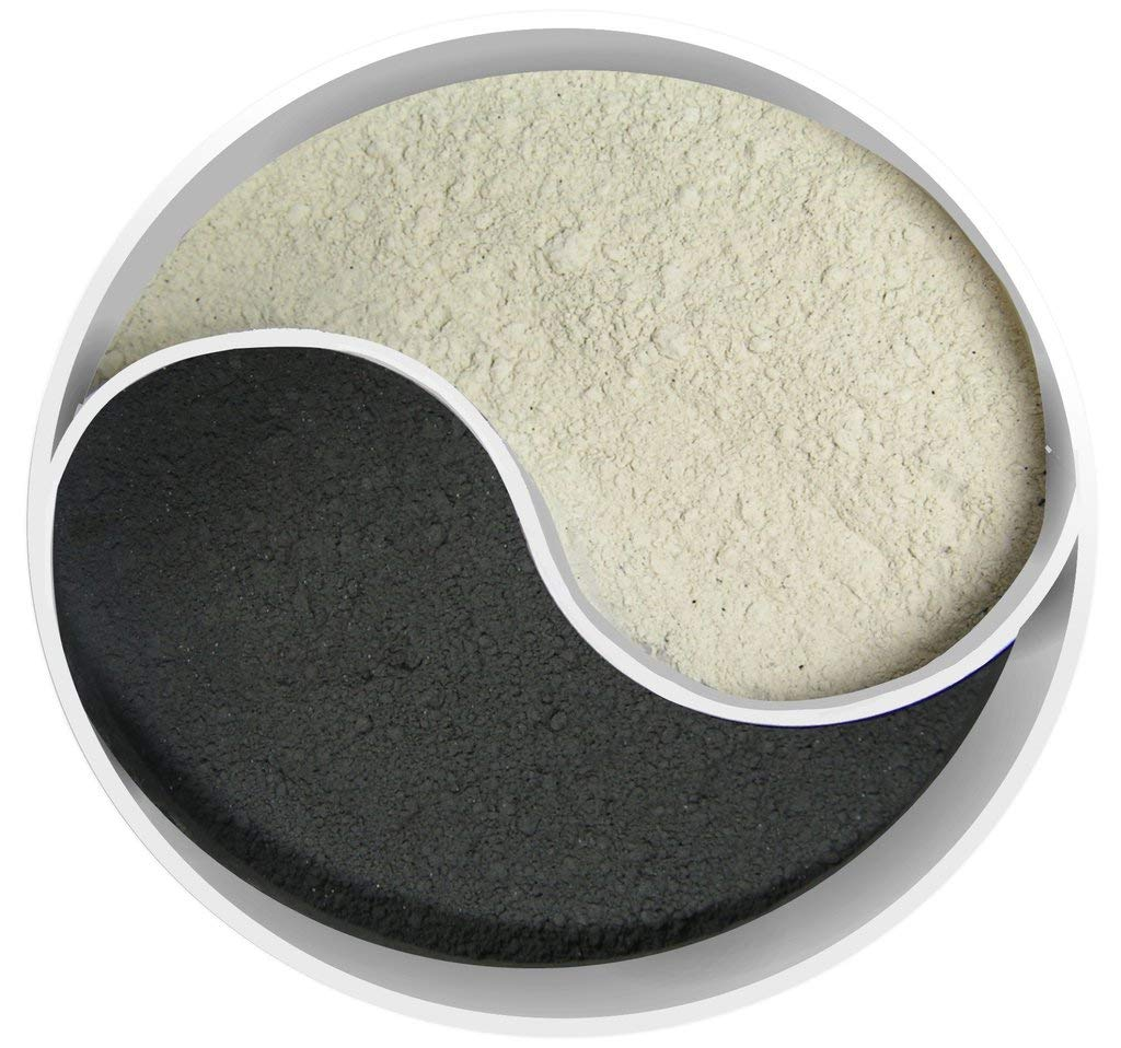 Detox Duo: Volcanic Bentonite Clay & Super Activated Charcoal Powder (4oz Each, Total 8oz) Food Grade & 100% Natural