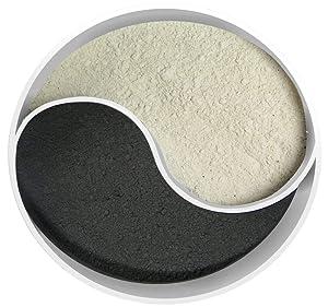 Detox Duo: Volcanic Bentonite Clay & Super Activated Charcoal Powder (8oz Each, Total 16oz) Food Grade & 100% Natural
