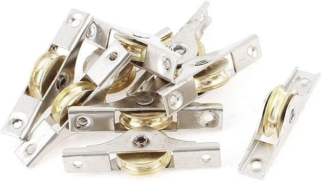 9 piezas 22 mm de diámetro rueda para puerta corredera rodillo para armario puerta corredera: Amazon.es: Bricolaje y herramientas