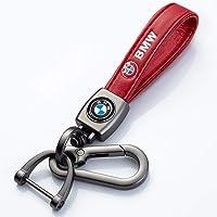 YANGYI Genuine Leather Car Logo Keychain Keyring Accessories for BMW 1 3 4 5 6 7 Series and X3 X4 M5 M6 GT3 GT4 Key…