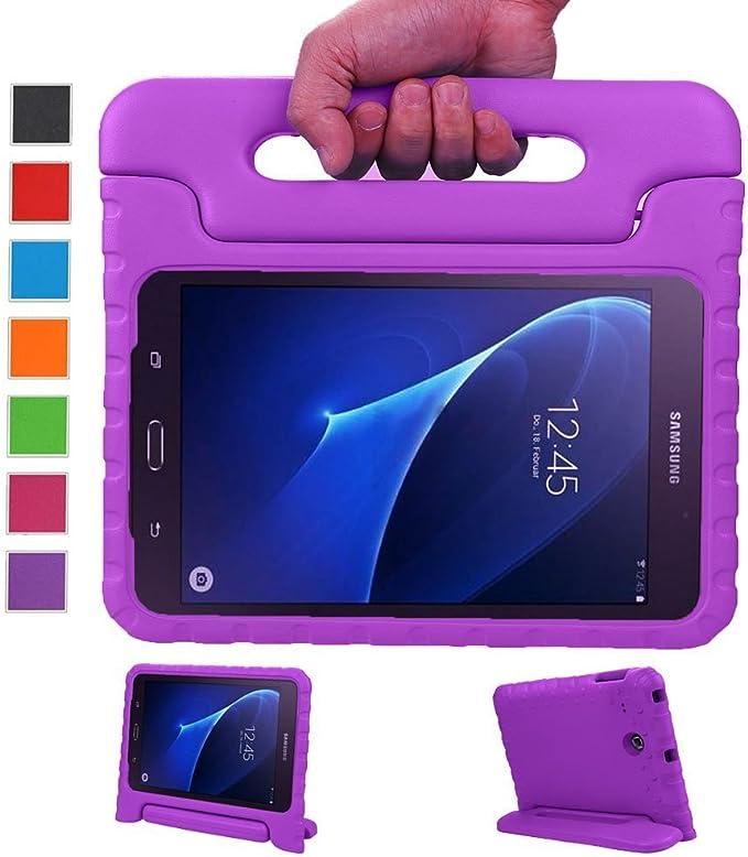 LEADSTAR Kinds Funda para Samsung Galaxy Tab A 7.0 caso niños EVA destinado a prueba de golpes cubierta estuche protector caso para Samsung Tab A SM-T280 T285 7.0 Pulgadas - Morado: Amazon.es: