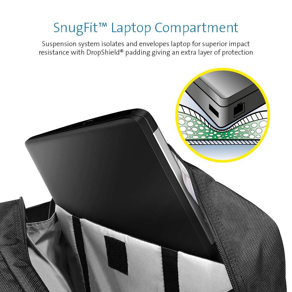 Tableta y m/ás Notebook Adecuado como Equipaje de Cabina Resistente al Agua Kensington 62340 Malet/ín Ergon/ómico Unisex para Port/átil de 17 para Port/átil