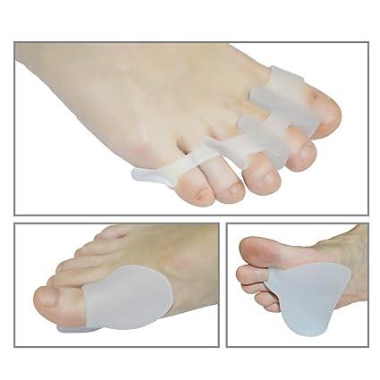 milfe separador de dedos de los pies y almohadillas, corrector de juanetes, dedos Camillas Kit - 3 ...