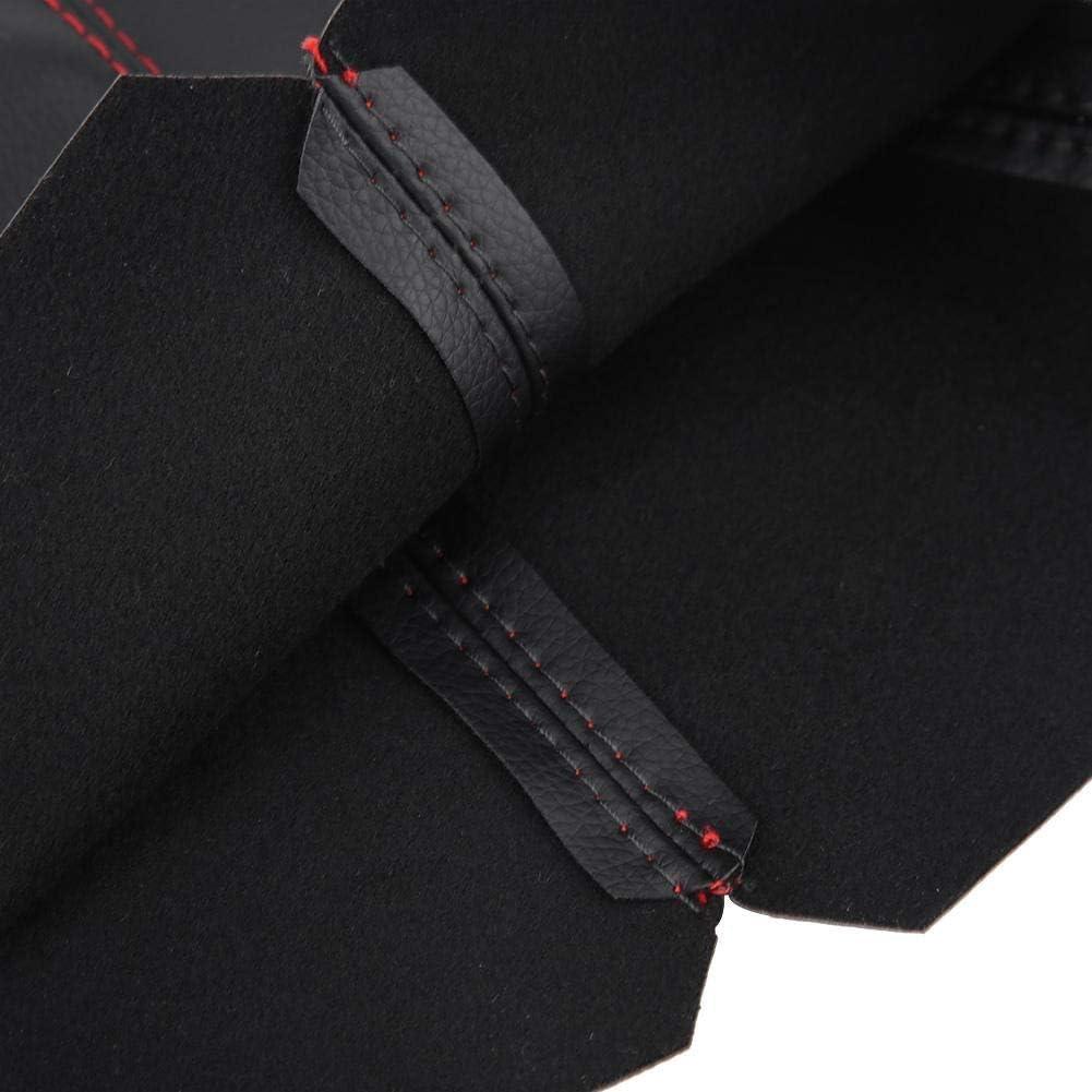 1 ST/ÜCK Universal Bright Black PU-Leder Schaltknaufdeckel Red Stitch Gear Gamasche Boot Cover. Outbit Schaltknaufdeckel
