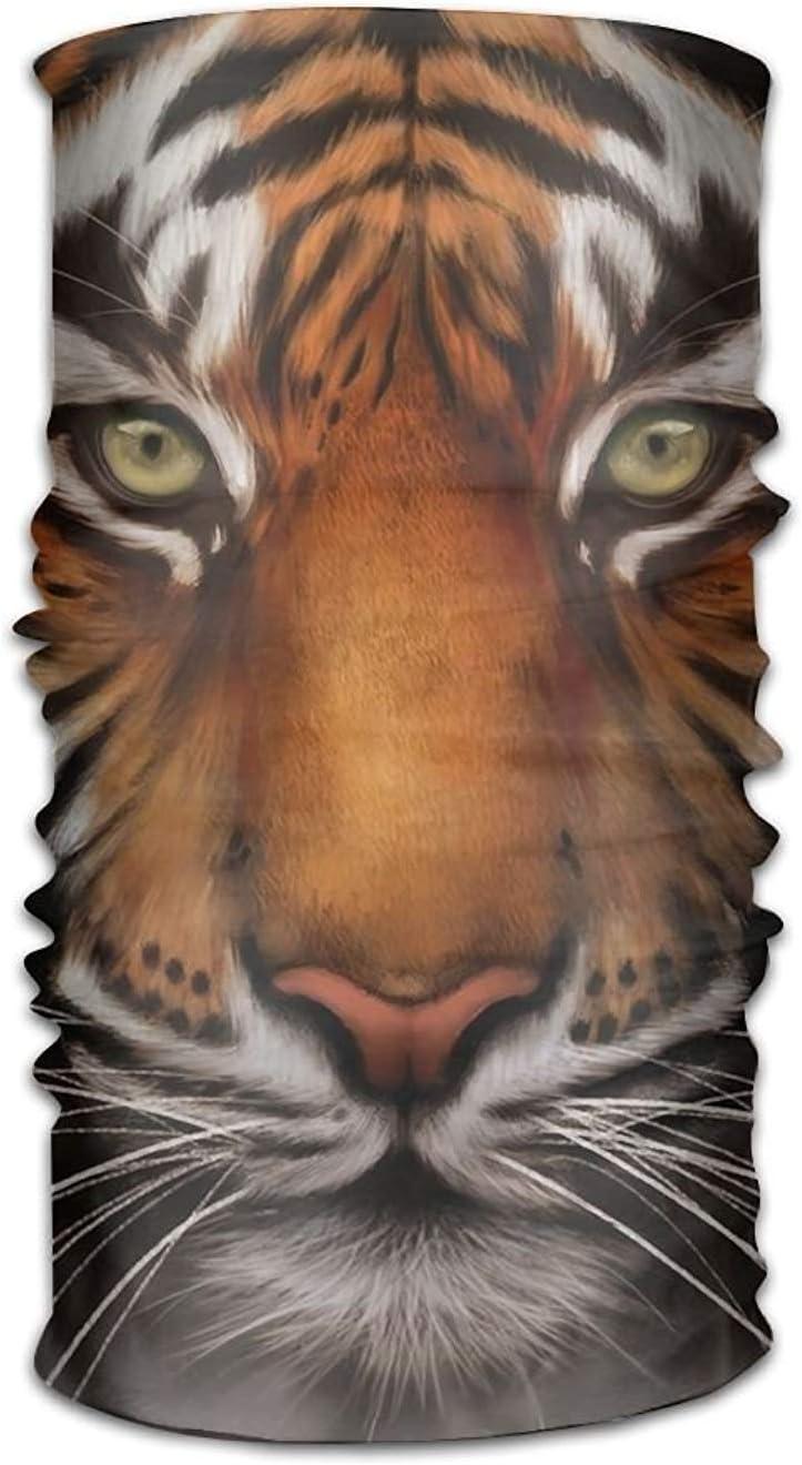 jingqi Magic Headwear Tiger Wildlife Outdoor Scarf Headbands Bandana Mask Neck Gaiter Head Wrap Mask Sweatband