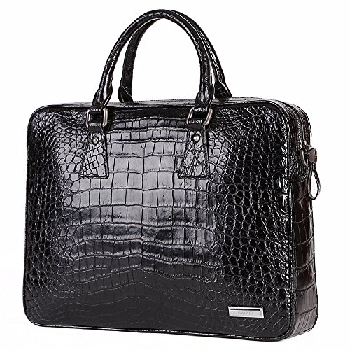 (GAVADI Men's Crocodile Leather Handbag Alligator Skin Business Briefcase)