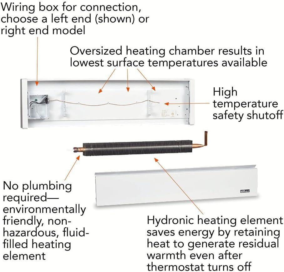 cadet heater wiring diagram 240v cadet ebhn500wlh softheat hydronic baseboard heater amazon com  softheat hydronic baseboard heater