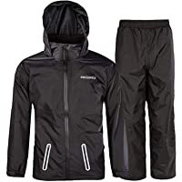 SWISSWELL Kids Rain Gear Lightweight Rain Jackets&Pants Waterproof Rain Suit for Boys Girls Breathable Raincoat with…