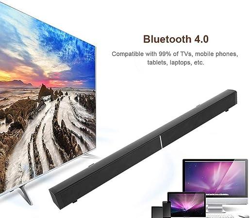 Barra de Sonido de Cine en casa de Alta Potencia Altavoz inal/ámbrico SoundBox HiFi Est/éreo Envolvente Bluetooth con Control Remoto