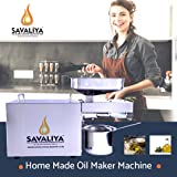 Savaliya Industries Stainless Steel Oil Maker Machine SI-702 Fully Automatic Home Use Oil Press Machine