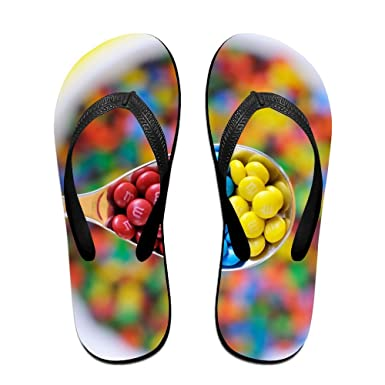 f365978f9161f Amazon.com  Unisex V Flip Flops Colorful Sweets Spoon Personalized Summer  Slipper  Clothing