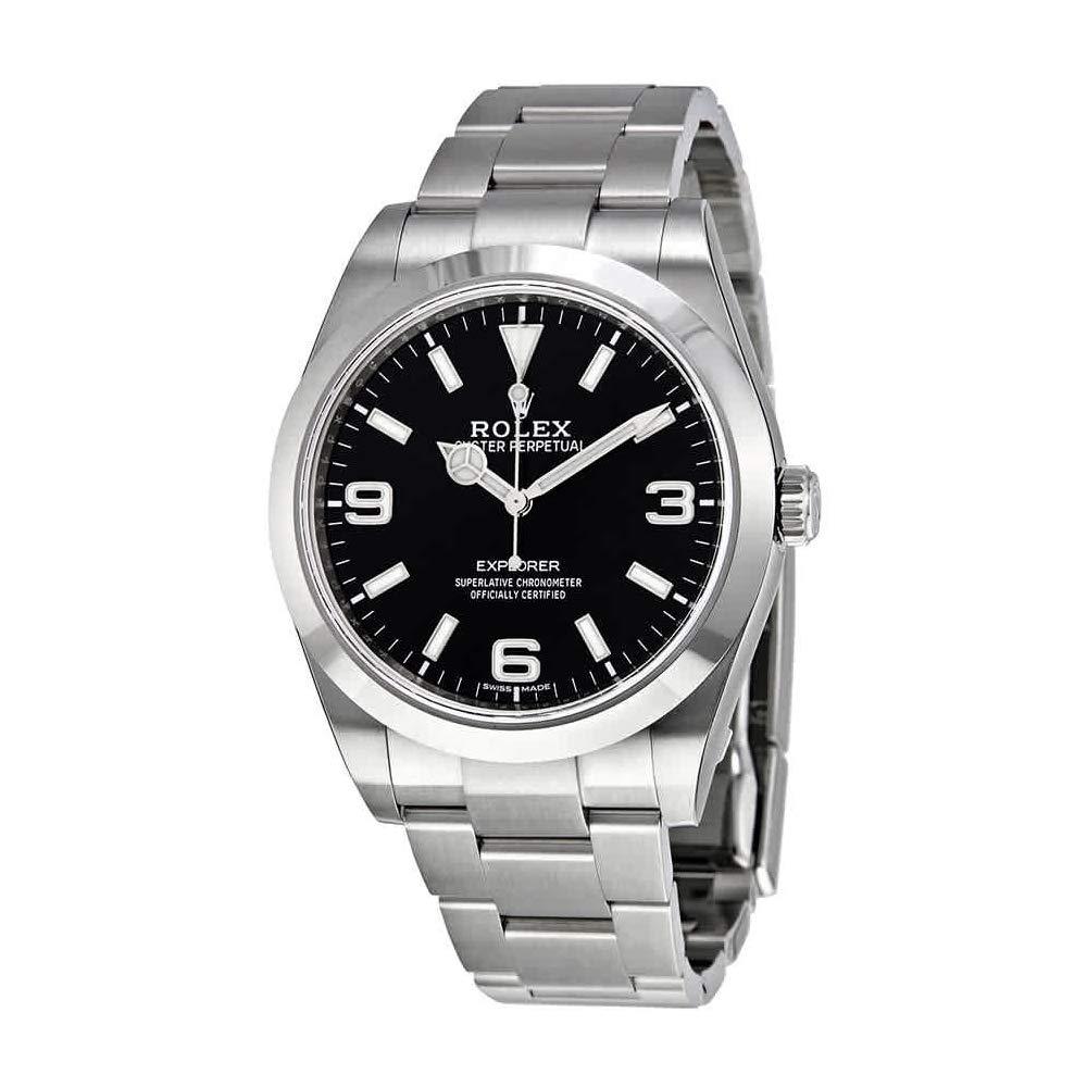 Reloj para hombre Rolex Explorer, con esfera negra, curvada, engaste Oyster 214270BKASO.: Explorer: Amazon.es: Relojes